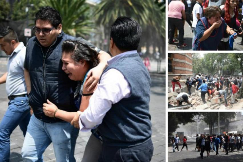 Разорен земјотрес го погоди Мексико: Голем број на загинати, се појавија и првите морничави снимки
