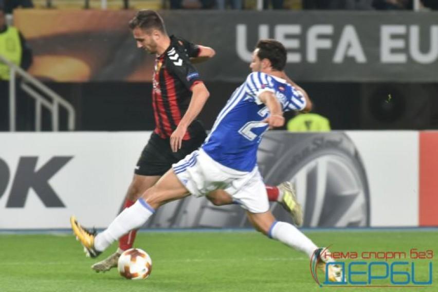 """Уште потежок пораз од европското деби: Реал Сосиедад пресилен за Вардар на """"Филип Втори"""""""