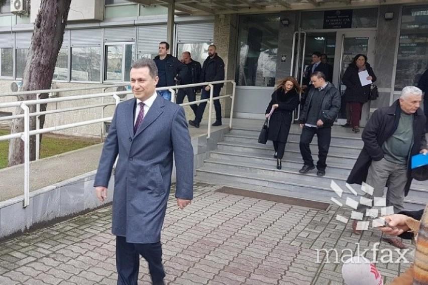 Груевски  Нè малтретираат по неколкупати да одиме во суд