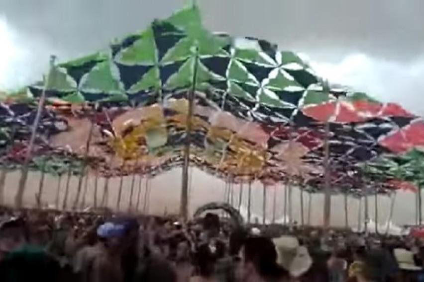 Вознемирувачка снимка: Се урнала бината на музички фестивал во Бразил, загинал диџеј