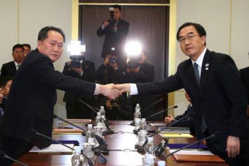 Северна и Јужна Кореја на пат кон мир  Делегациите на двете земји продолжуваат со преговорите во понеделник