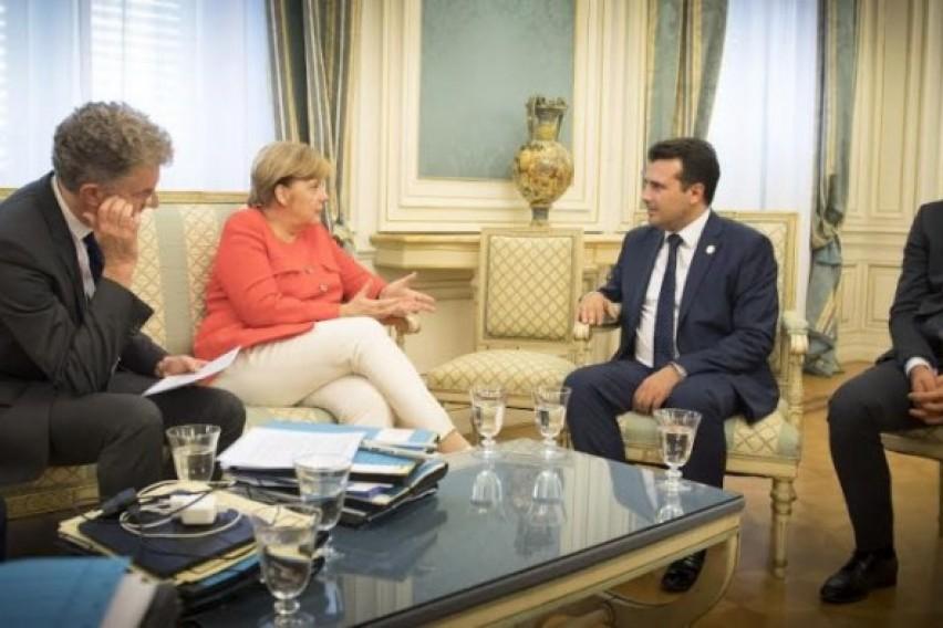 Заев на работни средби со Меркел и Штајнмаер