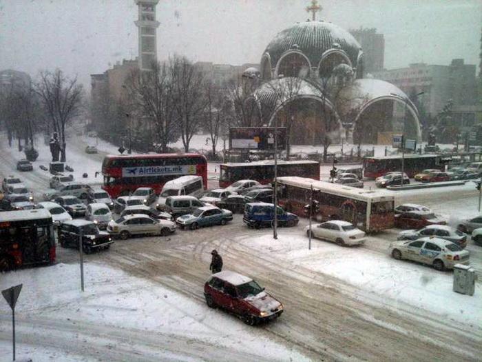 Image result for skopje sneg
