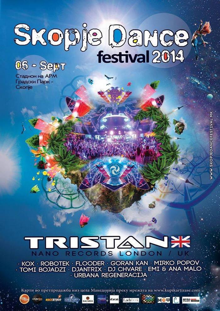 Skopje Dance Festival на 6-ти септември го најавува Tristan (Live) Nano Records!